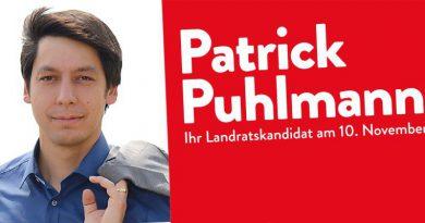 Landratswahl 2019: FDP unterstützt Patrick Puhlmann (SPD)